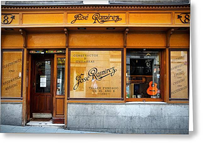 Ramirez Guitars Workshop Greeting Card by RicardMN Photography