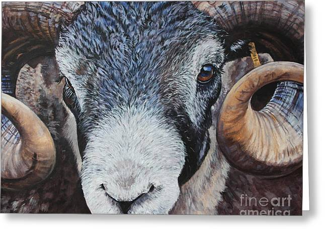 Rammed-in Greeting Card by E Jane Lazenby