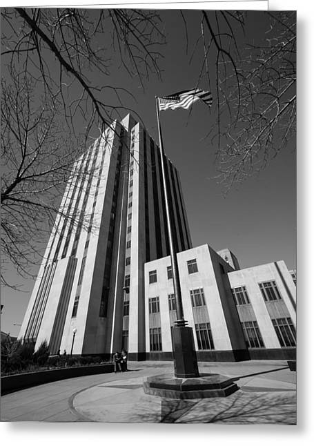 Greeting Card featuring the photograph Ramsey County Courthouse by Mike Evangelist