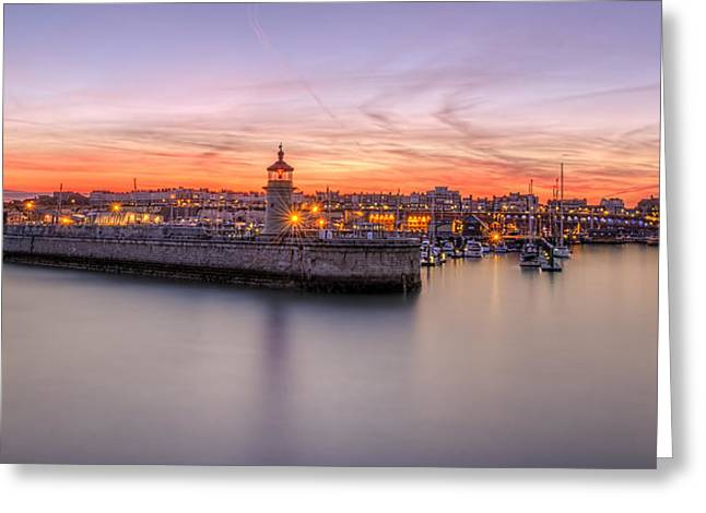 Ramsgate Harbour Summer Sunset  Greeting Card