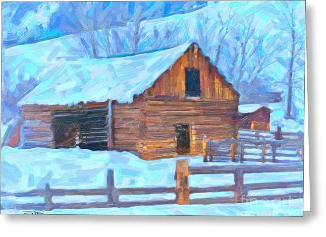 Barn Ranch  Greeting Card