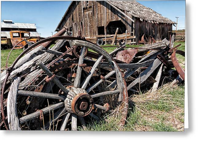 Ranch Wagon Greeting Card
