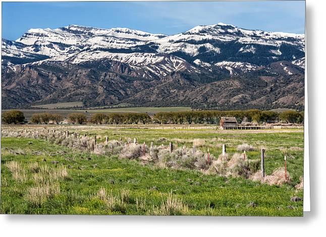 Ranching In Modoc Greeting Card by Kathleen Bishop