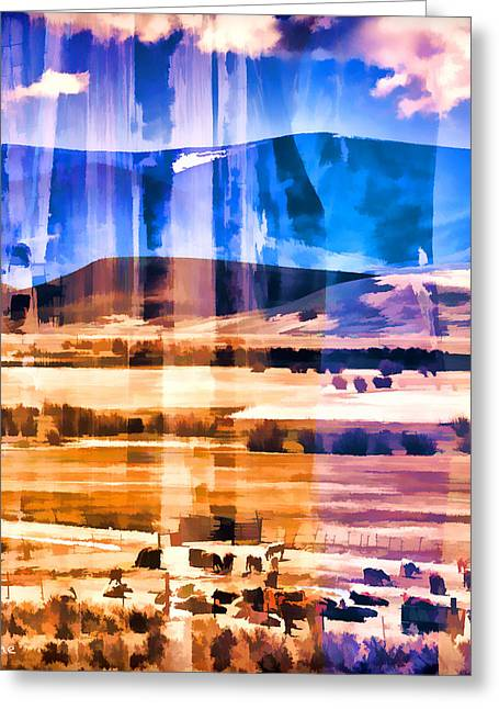 Ranchland Abstracted  Greeting Card