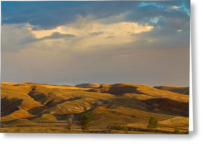 Ranchland In Late Afternoon, Wyoming Greeting Card