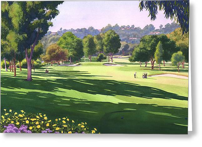 Rancho Santa Fe Golf Course Greeting Card by Mary Helmreich