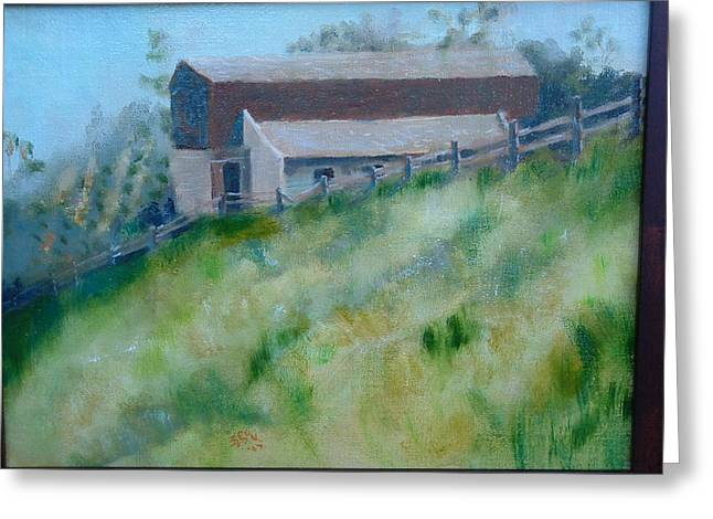 Rancho Sante Fe Stable Of Sahm  Greeting Card by Bryan Alexander