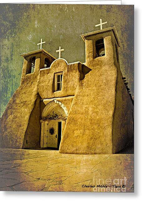 Ranchos Church In Old Gold Greeting Card