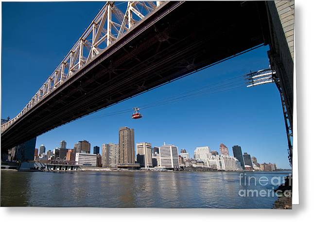 Randall Island Tram Greeting Card by Amy Cicconi