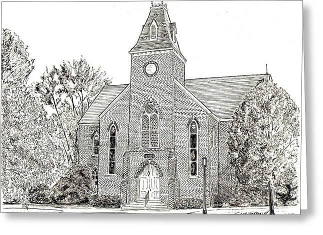 Randolph Macon Old Chapel Greeting Card