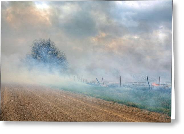 Range Burning Greeting Card by JC Findley