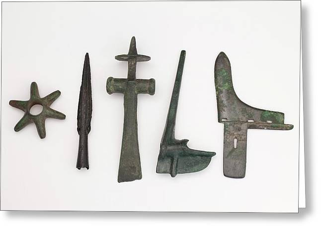 Range Of Global Bronze Age Weapons Greeting Card