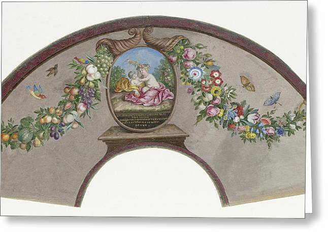 Range Sheet Of Parchment Covered With Tempera Front Greeting Card by Litz Collection