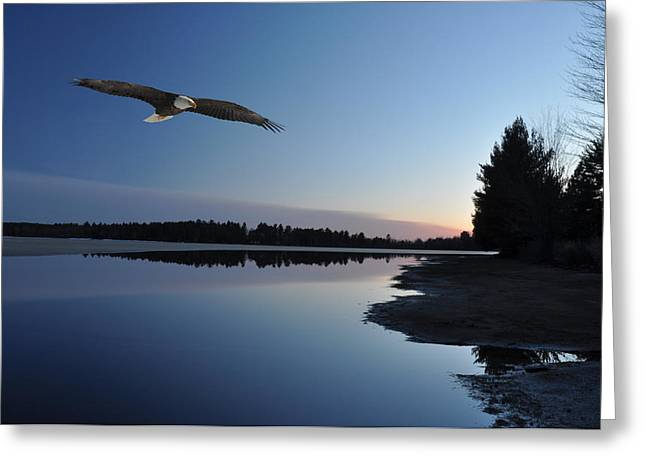 Rangeline Lake Greeting Card by RJ Martens