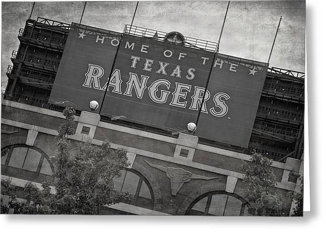 Rangers Ballpark In Arlington Greeting Card by Joan Carroll