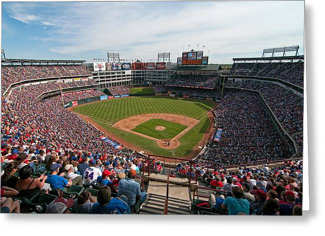 Rangers Ballpark In Arlington Greeting Card
