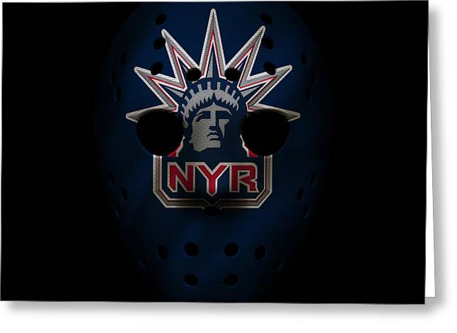 Rangers Jersey Mask Greeting Card