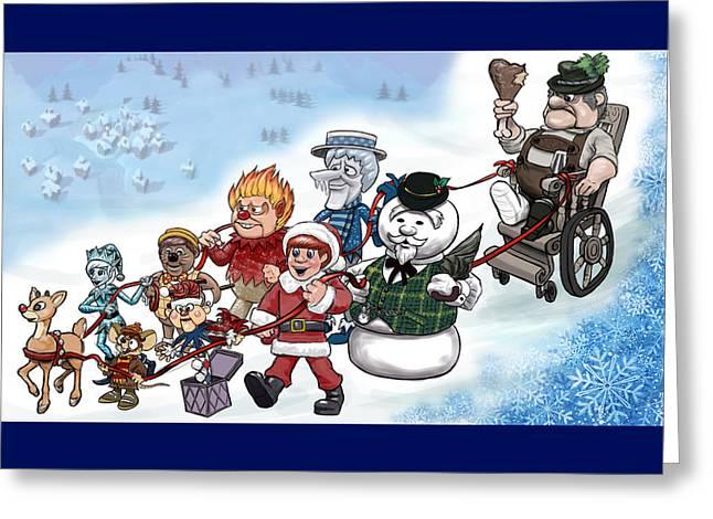 Rankin Bass Christmas Greeting Card by Jennifer Hotai