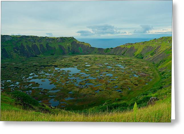 Rano Kau Kau Crater Greeting Card