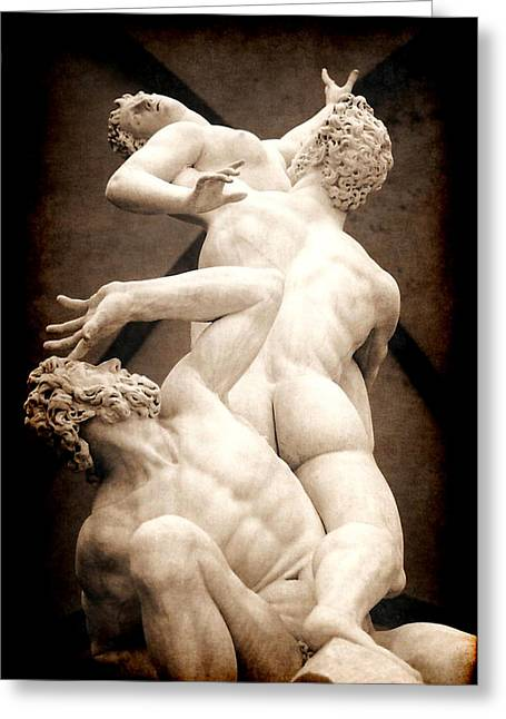 Rape Of The Sabines In Florence Greeting Card