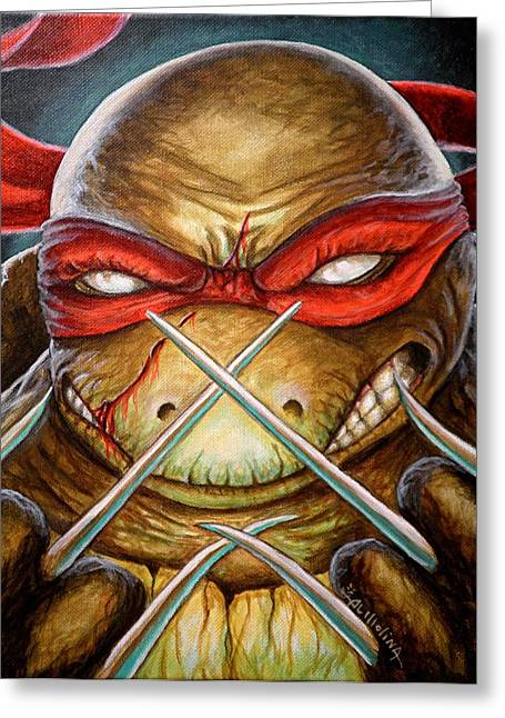 Raphael Unleashed  Greeting Card by Al  Molina