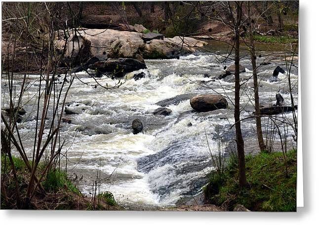 Rapid Waters At Hurricane Shoals Greeting Card