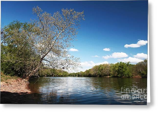 Raritan River Greeting Card by John Rizzuto