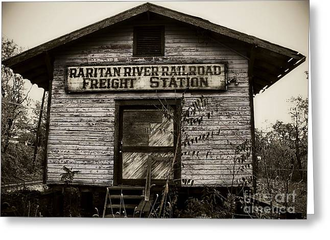 Raritan River Railroad Greeting Card by Colleen Kammerer