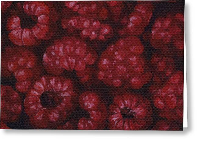 Greeting Card featuring the painting Raspberries by Natasha Denger