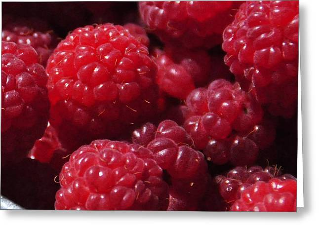 Raspberry Crave Greeting Card by Elena Hasnas