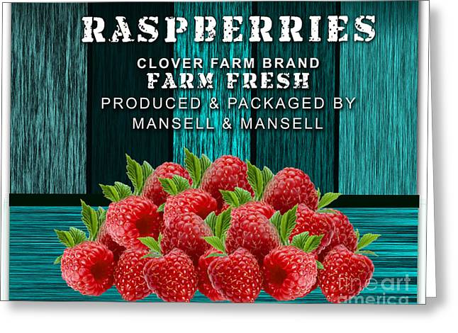 Raspberry Farm Greeting Card