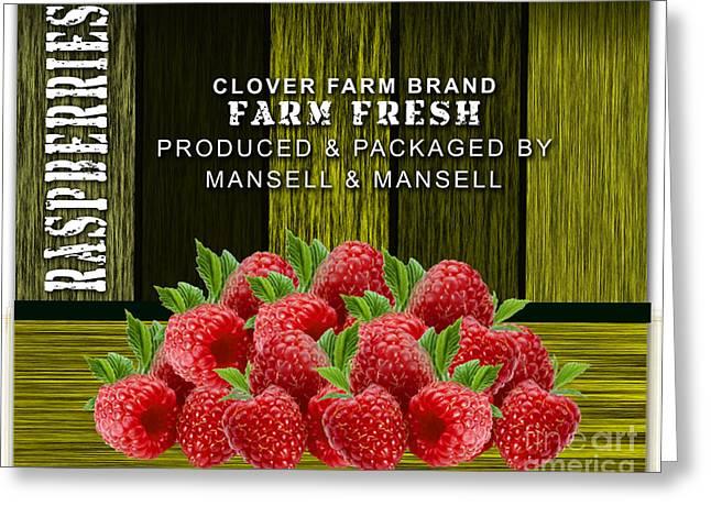 Raspberry Fields Greeting Card by Marvin Blaine
