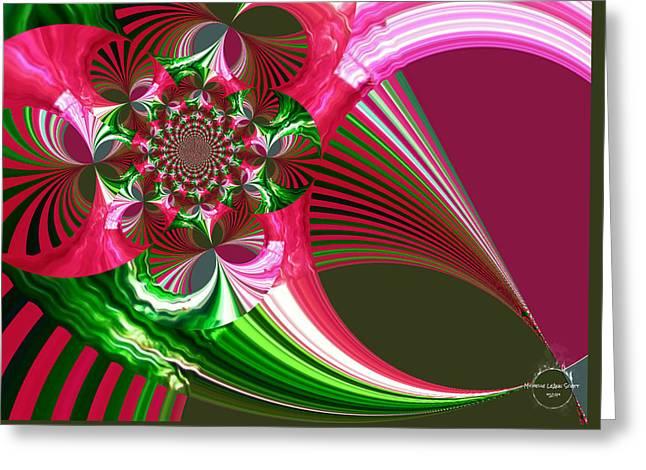 Raspberry Garden Greeting Card by Absinthe Art By Michelle LeAnn Scott