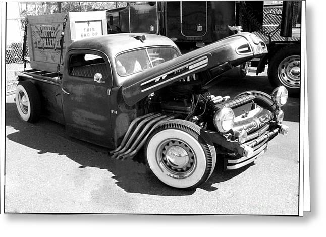 Rat Rod Hot Rod Greeting Card by Kip Krause