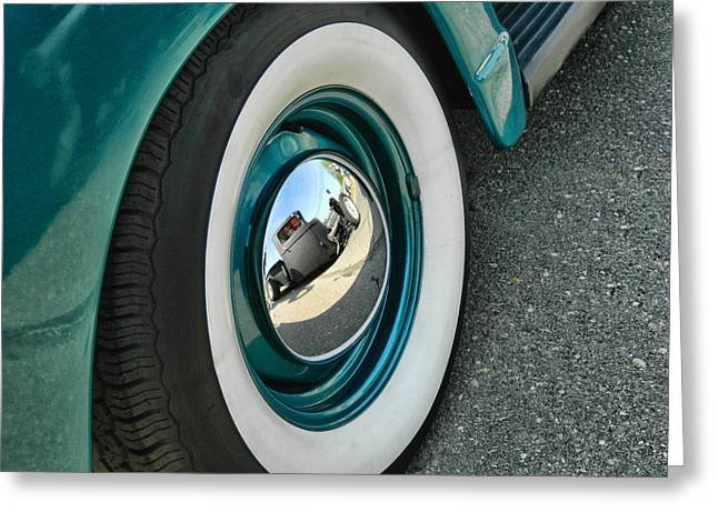 Greeting Card featuring the photograph Rat Rod Reflection by Victor Montgomery
