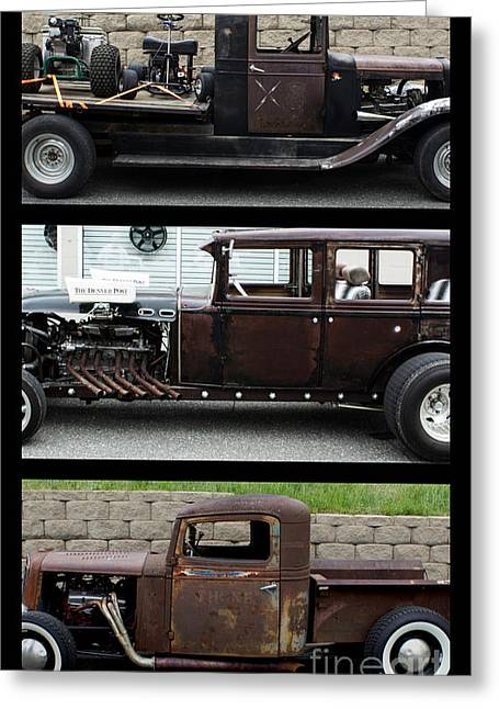 Rat Rods Poster Greeting Card by Steven Parker