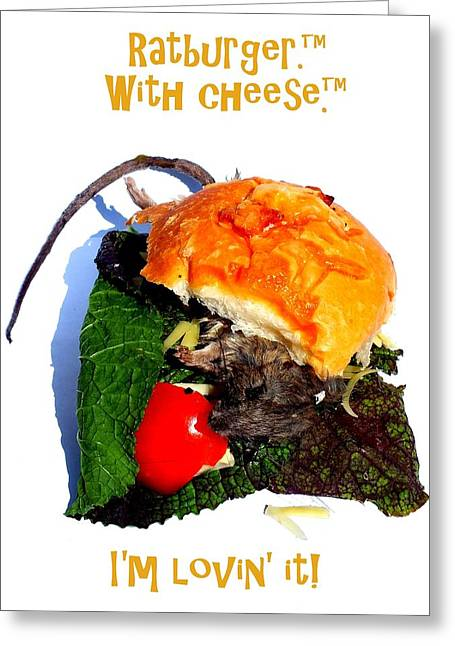 Ratburger With Cheese Greeting Card