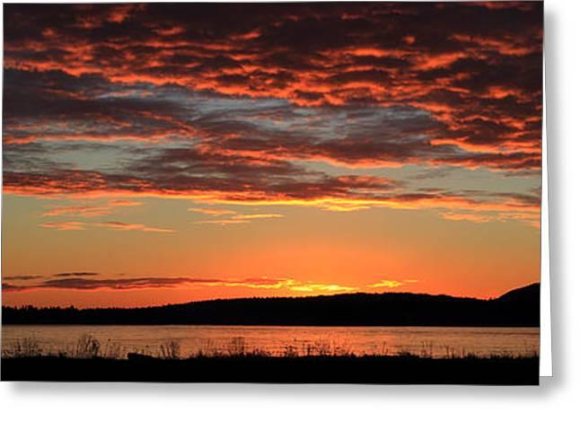 Rathtrevor Beach Sunrise Greeting Card by Randy Hall