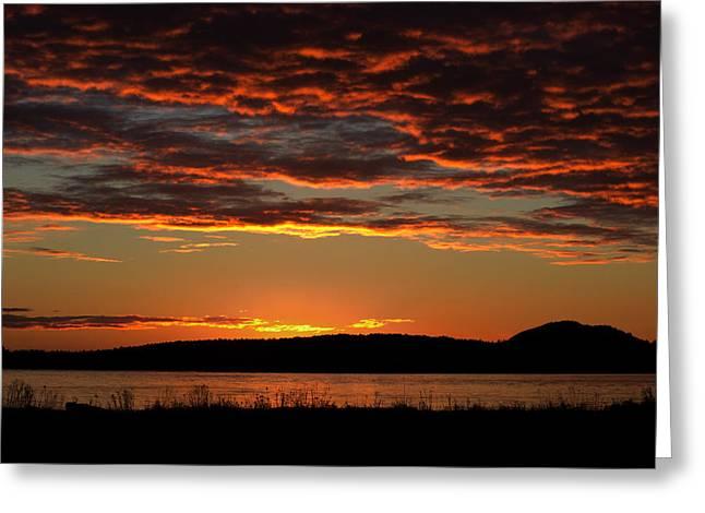 Rathtrevor Sunrise Greeting Card by Randy Hall