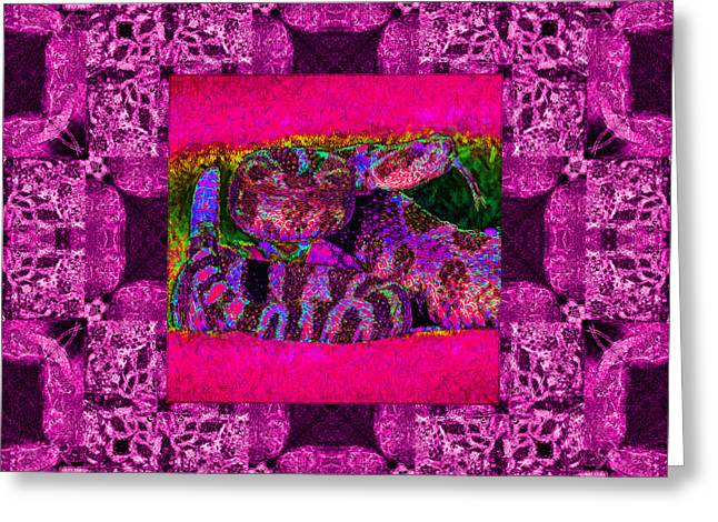 Rattlesnake Abstract Window 20130204m80 Greeting Card