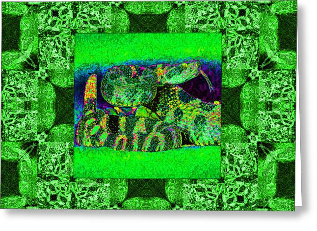 Rattlesnake Abstract Window 20130204p75 Greeting Card