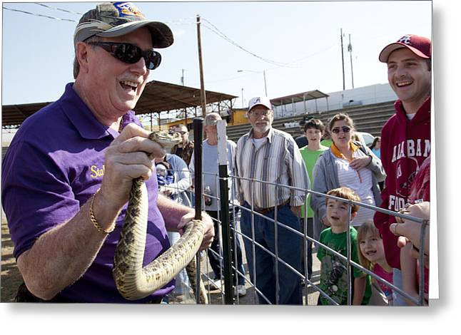 Rattlesnake Rodeo In Opp Greeting Card by Carol M Highsmith
