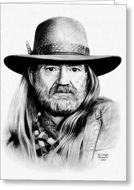 Rattlesnake Willie Greeting Card by Mike Roberts
