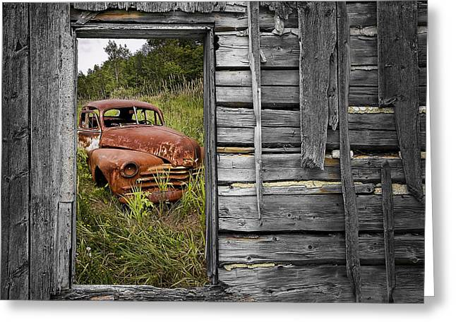 Ravages Of Time Greeting Card by Randall Nyhof