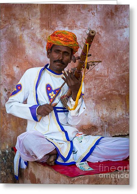 Ravanhatha Musician Greeting Card