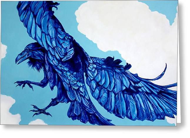 Raven Cloud Dancer Greeting Card