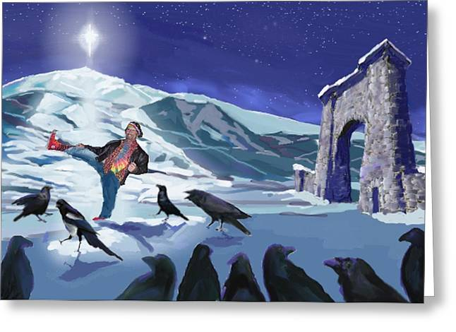 Raven Dance Greeting Card