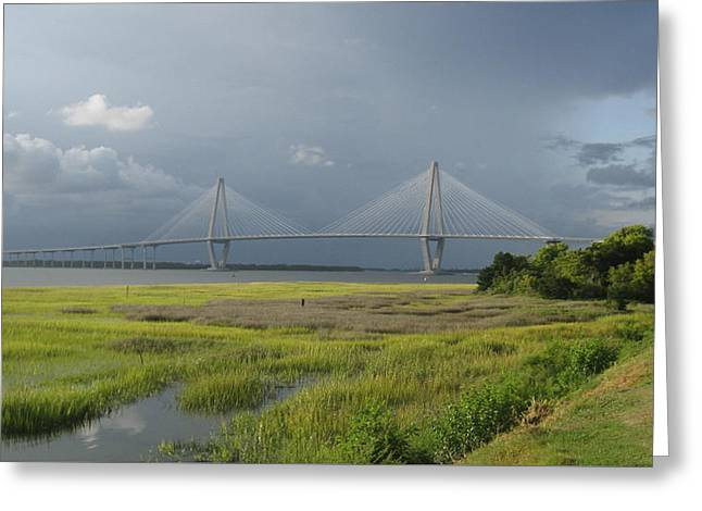 Ravenal Bridge Charleston Sc Greeting Card