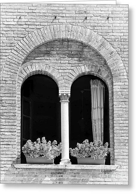 Ravenna Window Mono Greeting Card