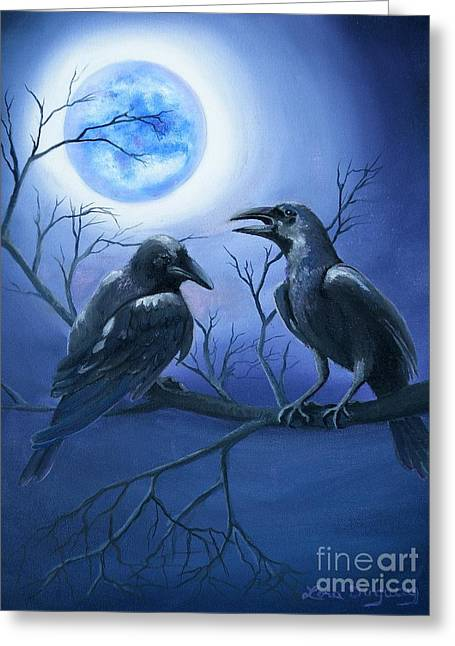 Raven's Moon Greeting Card